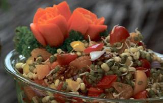 Linsensprossen Salat